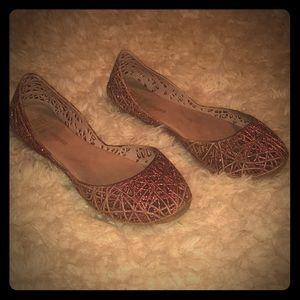 Mini Melissa Pink Jelly Shoes Sz 2